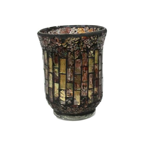 Ваза стеклянная с декор мозаикой (Н=15см) 210р