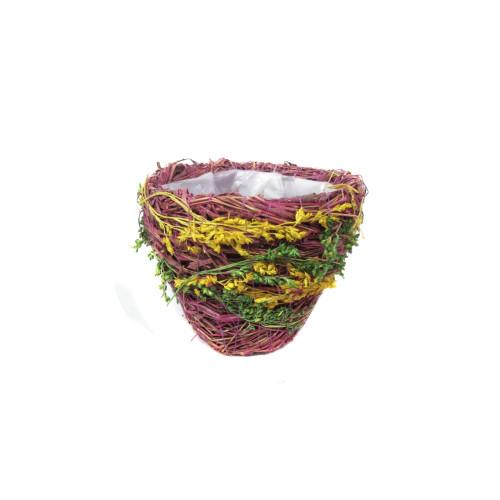 Кашпо из сухоцветов №1 90 руб