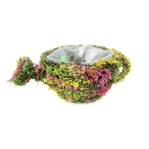 Кашпо из сухоцветов №3 190 руб