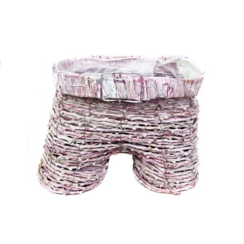 Кашпо плетен. с полиэтилен. вкладышем 410 руб