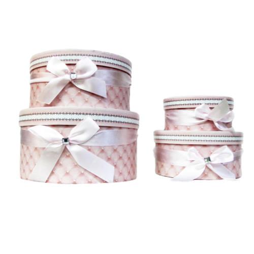 Короб для подарков №14 (картон; набор из 4шт - D=23см; 20см; 17см; 13см) 620 руб.набор