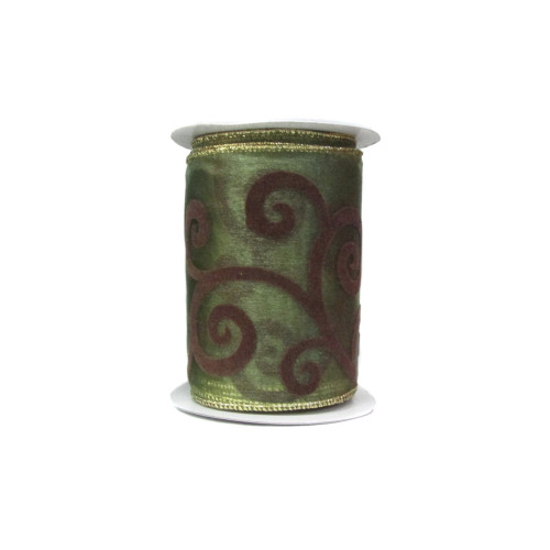 Лента органза с орнаментом (10см х 10м) 480 руб.шт